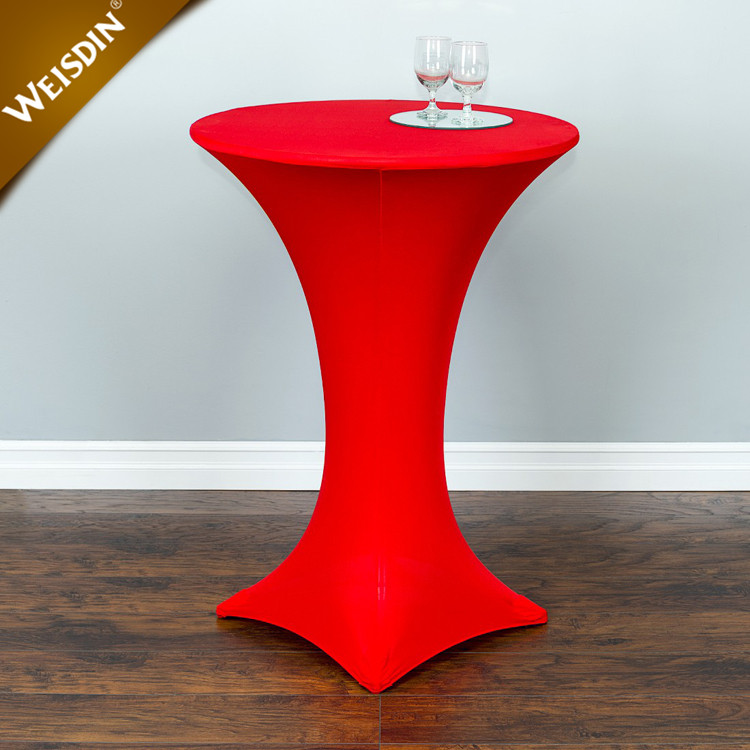"Custom christmas wedding high bar 24"" x 42"" round stretch spandex cocktail table cover"
