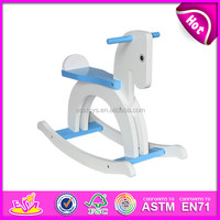 2015 New Kids Toy Wooden Rocking Horse,Lovely wooden toy rocking horse,High quality cheap rocking horse toy W16D056