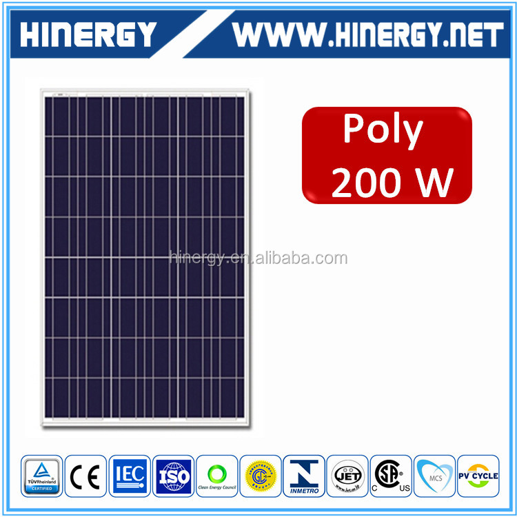 12v 24v 200w China Competitive Price Solar Panel For Sale