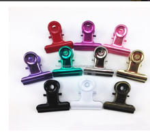 High Qaulity colorful Stainless Steel Office Metal Bulldog Clips