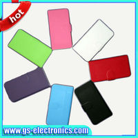 2013 new color flip leather wallet for blackberry Z10 smart cover case