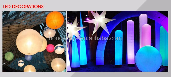 Color Changing Inflatable Star Balloons With Led Light For Party Decoration