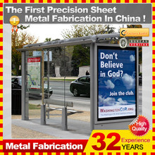 advertising light box for bus stop shelter
