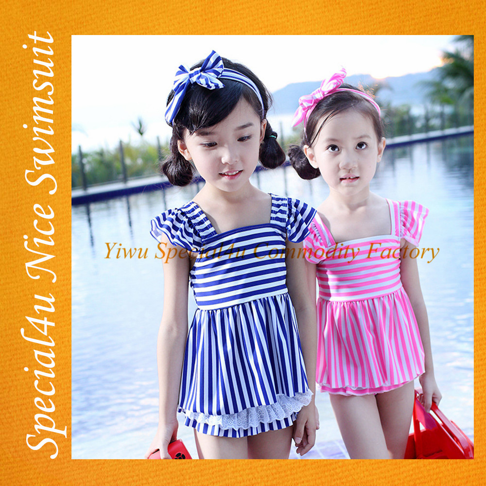 Lovely kids swimsuit models fancy kids girls swimwear beautiful kids swimwear fabric SA-416