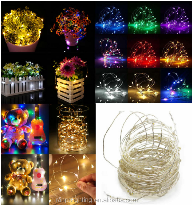 Multi-Color 5M 10M String Fairy Lights Battery USB 12V Xmas Party Fairy Decor Lamp Flexible Copper Wire LED String Lights