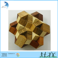 Wholesale IQ Intelligent Wooden 3D Cube Jigsaw Puzzle Game