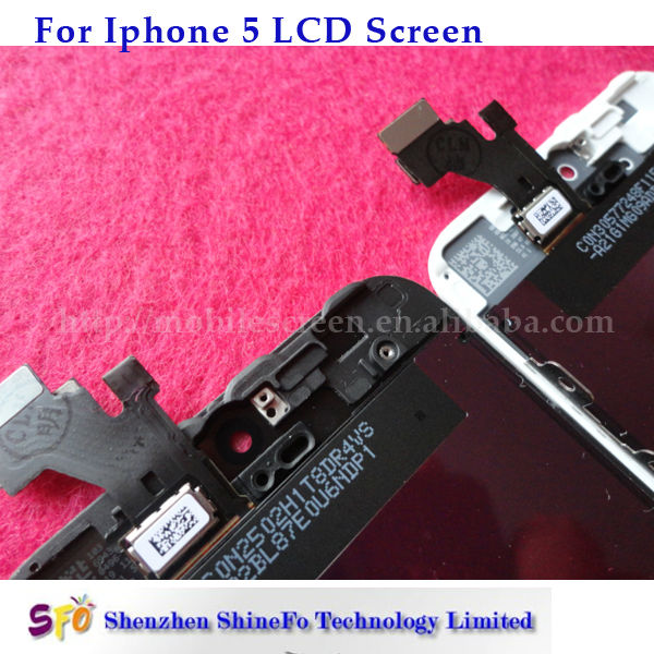 Mobile Phone Accessory digitizer lcd touch screen for iphone 5