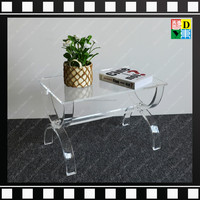 2016 Stylish furniture Fashional Transparent clear Acrylic plexiglass coffee table in living room/bedroom for home/hotel/office
