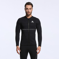 3mm neoprene men wetsuit jacket or vest with front zipper for diving