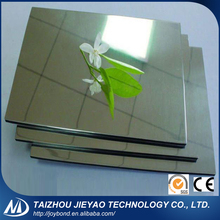 Eco Friendly Waterproof Building Material Cladding Mirror Aluminum Composite Sheet