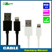 2M high quality Charge lead USB cable for Iphone 5 cable data sync charger for iphone 6 /iPhone5 micro USB cable