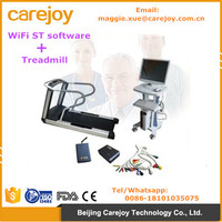 CE certified Wireless Wifi ECG Stress Test System WiFi with ST Software Kit+Trolley+ Treadmill