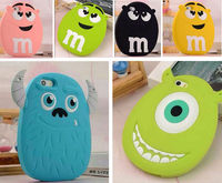 3D Festival Gift Cute Cartoon Animals Monster/Chocolate Rainbow Bean Chain bag soft silicone case For iphone 5 5g 5s s6/s6edge