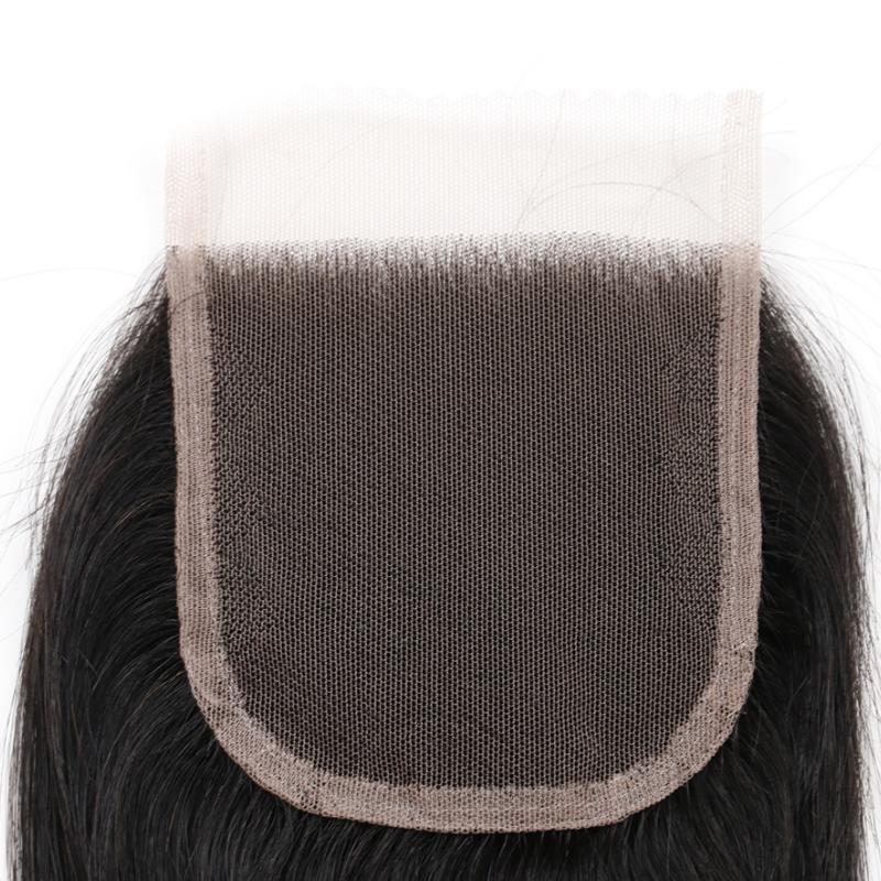 4x4 Body wave lace closure human hair