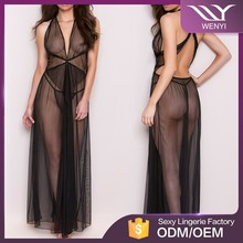 Hot sale good price sweet transparent dress sexy night lingerie young girls nighty wear