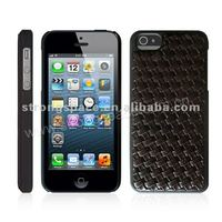 2015 weave pattern style mobile phone leather case