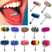 CC1012 Women Men Rock Personality Vibrating Tongue Ring Body Piercing Jewelry With 2 Batteries plugs and tunnels body jewelry
