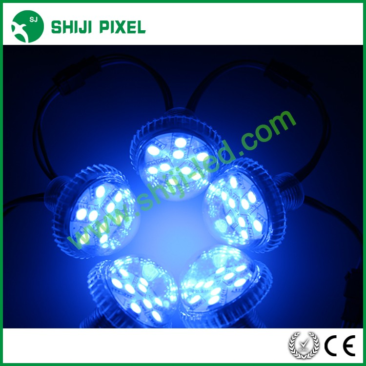 clear plastic color changing rgb led pixel ball