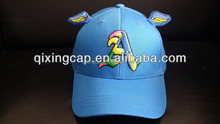 Baseball Cap For Child Children lovely baseball cap with wings from qixing cap factory in china