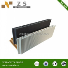 Non light pollution terracotta panel profiles wall tiles