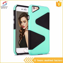 Fashion style hot product shockproof s line tpu pc for iphone 7 case color
