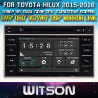 WITSON FOR TOYOTA HILUX 2015 2016 CAR DVD PLAYER WITH GPS WITH 1080P CAPACITIVE SCREEN WIFI 3G DVR OBD TPMS MIRROR LINK