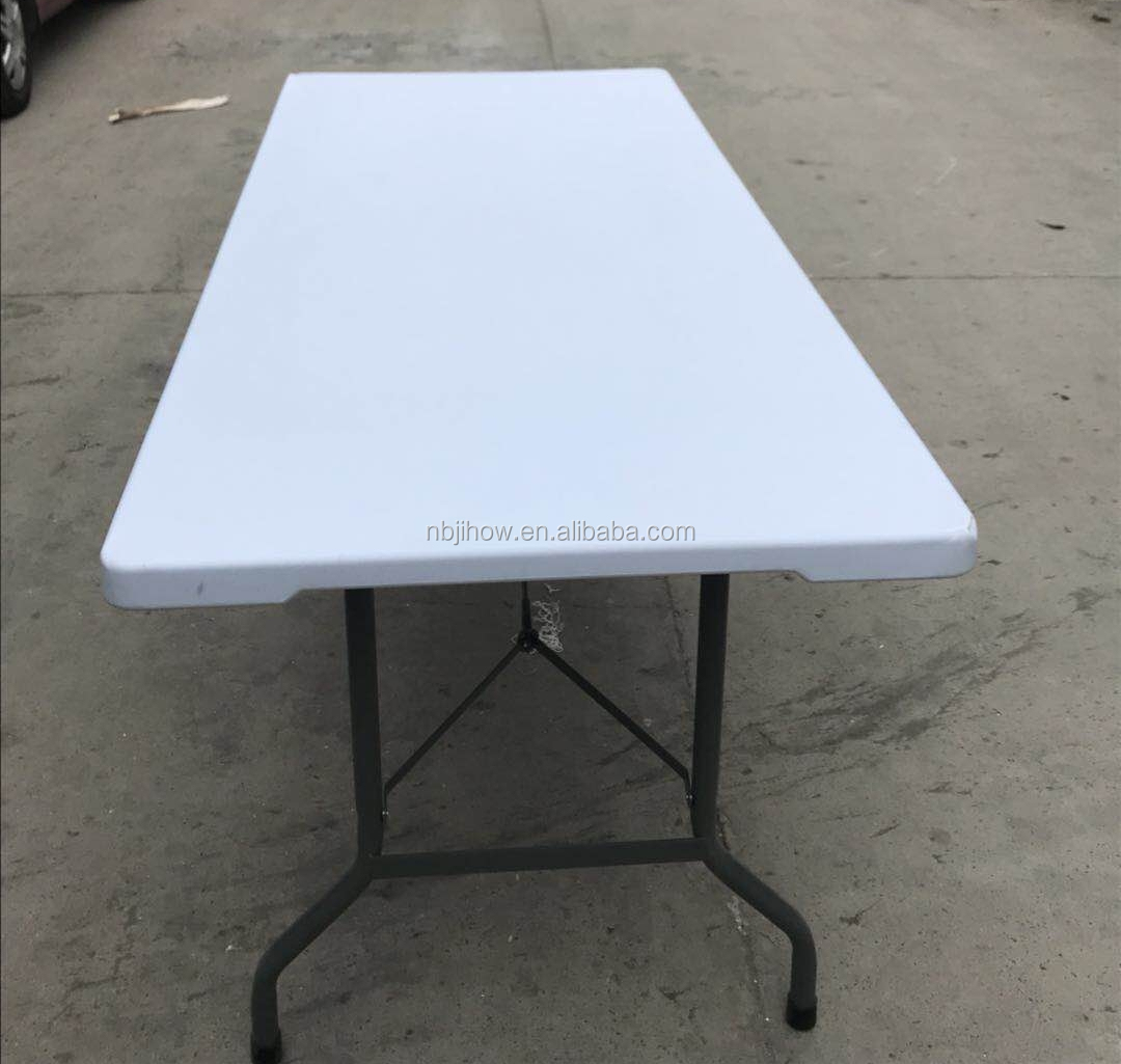 durable 5ft 6ft 8ft HDPE plastic rectangular folding wedding table