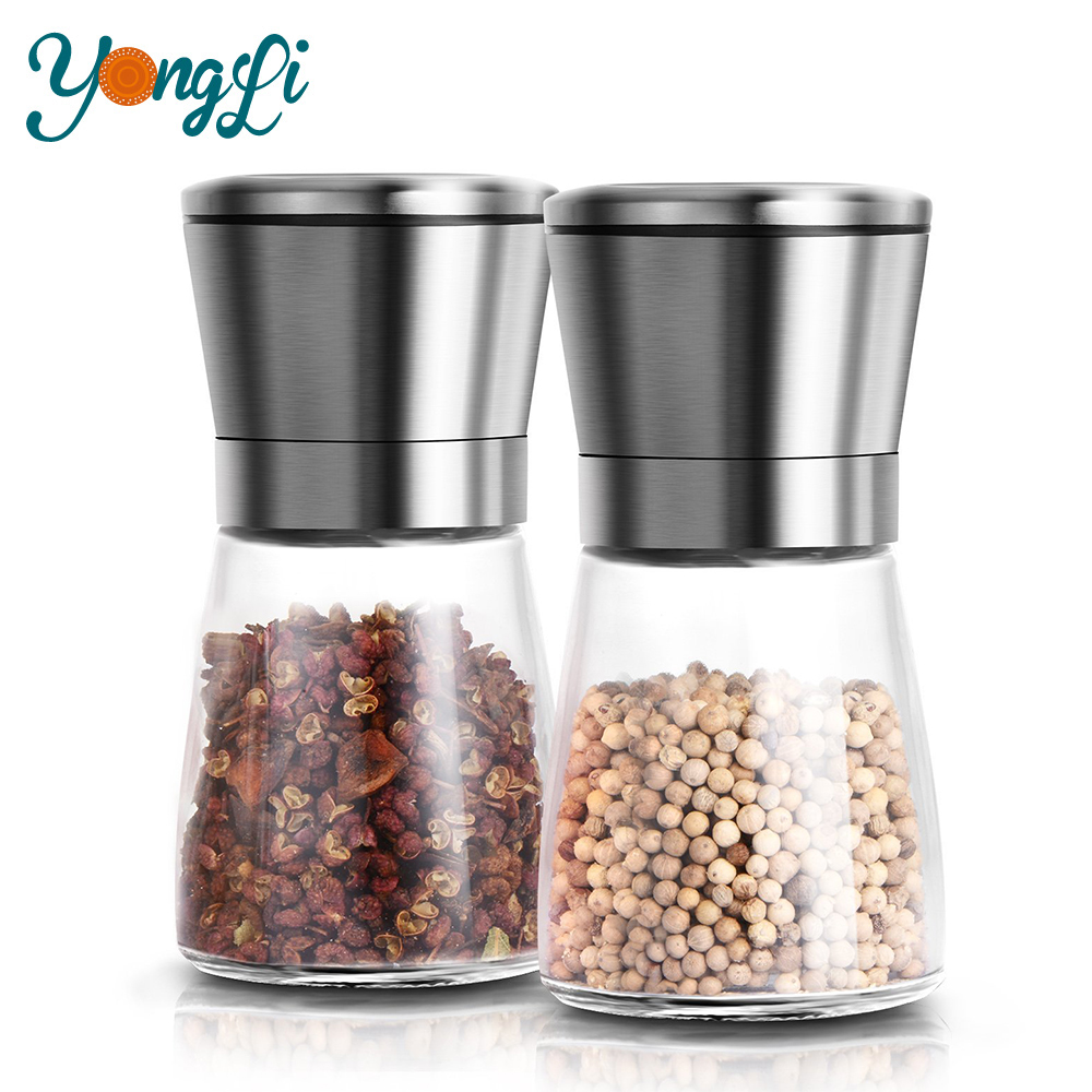 Wholesale Portable Kitchen Manual Stainless Steel Salt Pepper Grinder