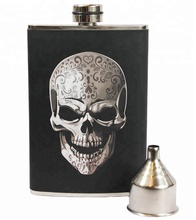 8oz High grade leak tested 304 stainless steel whiskey hip flask with your own design