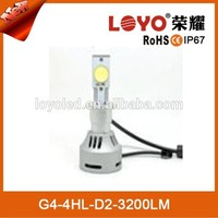 China new LED replacement xenon hid kit LED chips 3200lm head led lamp