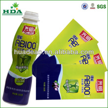 color changing heat sensitive labels for milk bottles