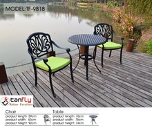 Wholesale simple pattern excellent quality home supplies cast aluminum patio furniture cast aluminum table and chairs
