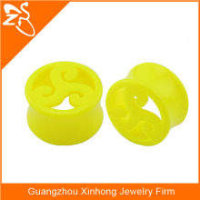 2015 wholesale Flesh Tunnel Hollow Plug Double Flared Ear Piercing Acrylic Plastic