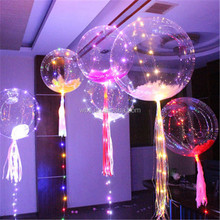 Helium Christmas wedding birthday party stuffing balloons PVC flash led light clear transparent round fly bobo bubble balloons
