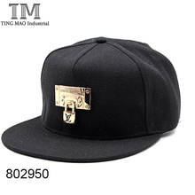 100% Cotton custom men snapback hat and cap with lock 802950