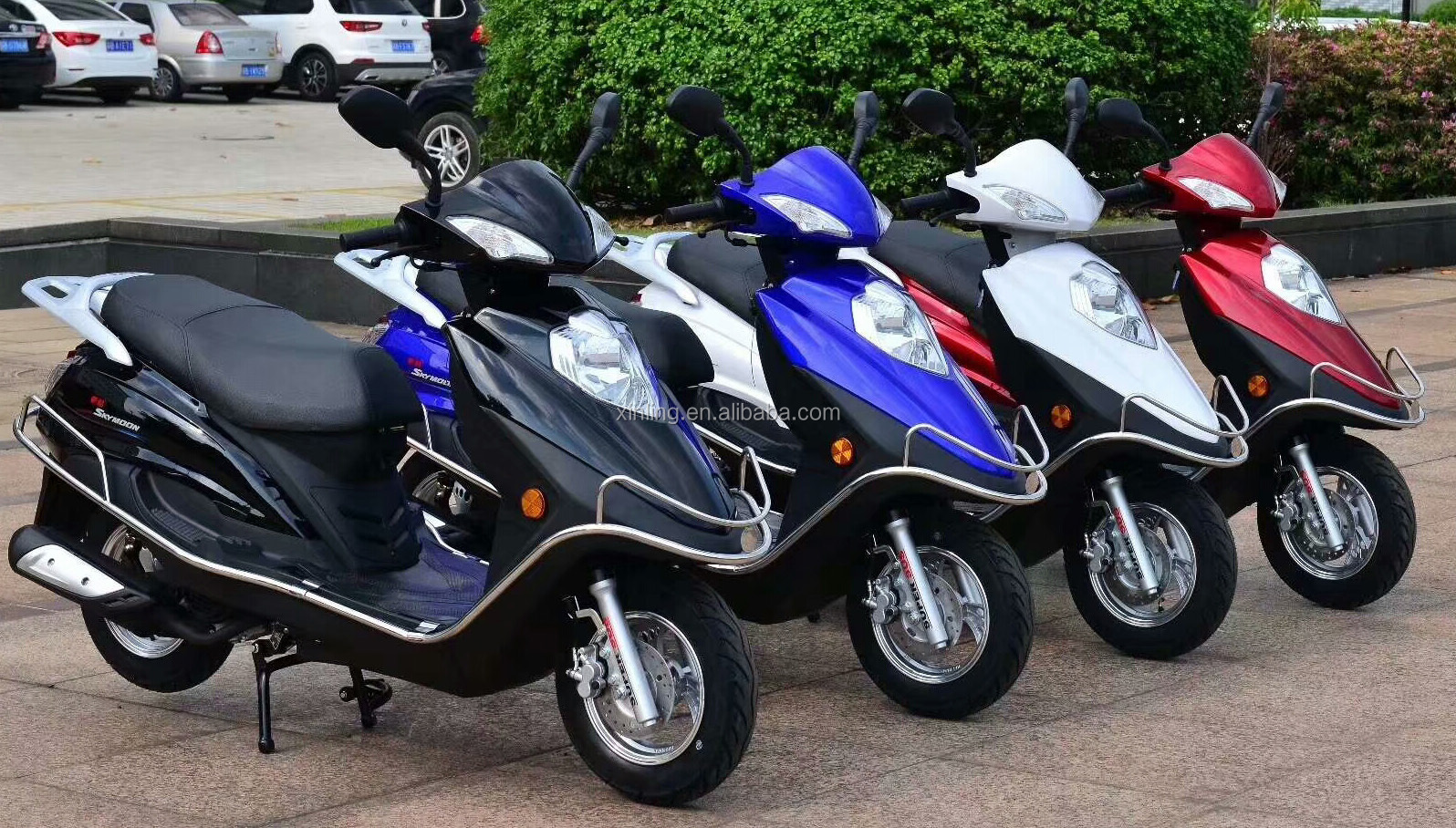 2018 Hot sale high power 125cc 150cc gas scooter with disc brake for wholesale