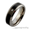 custom logo laser cut stainless steel black arabic mens ring