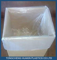 poly square bottom bag pallet top cover bags plastic vinyl cover for machines