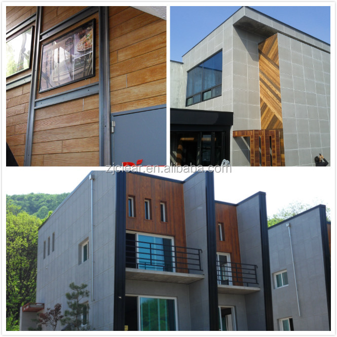 CLEAR Fluorocarbon Paint Exterior Wall Decorative Fiber Cement Clad Wood Siding