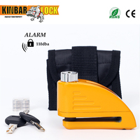 Kinbar motorcycle alarm lock disc lock with alarm