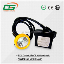 PC housing 15000 lux corrosion proof rechargeable LED headlamp for miners