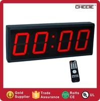 Alibaba Express GYM Equipment Red Digital LED 4-digital Interval Timer