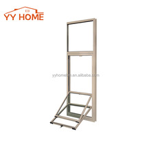 YY Home Vertical grills design glass aluminium windows/Single hung aluminium window/view-max vertical hung window