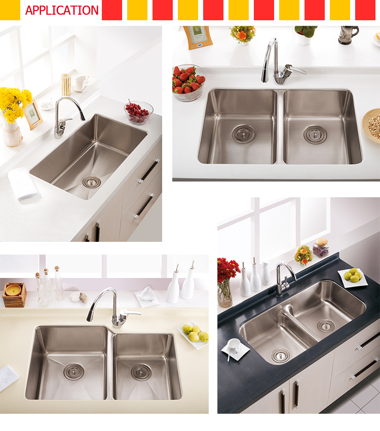 Best price Freestanding Handmade big bowl deep stainless steel kitchen sinks