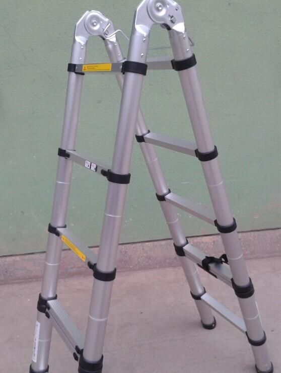3 8 m doble equilibrio plegable de aluminio escalera for Escaleras 8 pasos