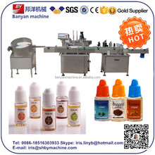YB-Y2 10ml Automatic e juice e liquid 2 fillers and 1 capper production line