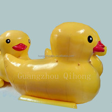 Summer popular inflatable water toys, water gemes, pool yellow duck for the lake