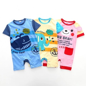 New Arrival Summer Baby Clothes Lovely Animal Whale Elephant Bear Newborn Baby Cotton Rompers