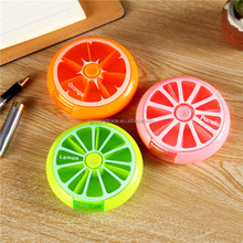 Health Care Medicine Pill Box Fruit Shaped Sort Vitamin 7 Day Weekly Holder Tablet Storage Case Container Cases Travel Round