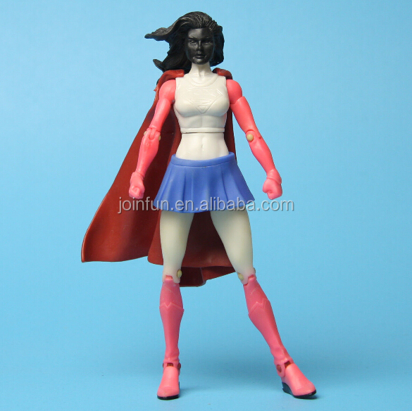 Cartoon girl action figure toy,Plastic girl hot toy action figure,Custom plastic toy action figure